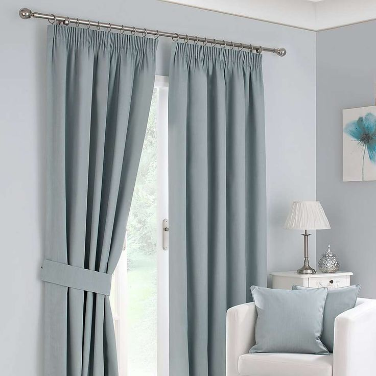Duck Egg Solar Blackout Pencil Pleat Curtain Collection