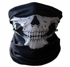 Skull Face Shield Mask Bandana Neck Scarf Headwear Face Tube UV Fishing Hunting