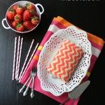 How to make a Chevron Zig Zag Cake Roll.  Beware:  There's a lot of flipping and rolling!  From andcute.com