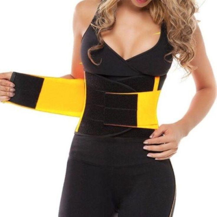 新しいレディースホットベルト電源シェイパー黄色ユニセックスコルセットウエストトレーナーニッパー女性ボディシェイパー痩身サーモfajasボディニッパー
