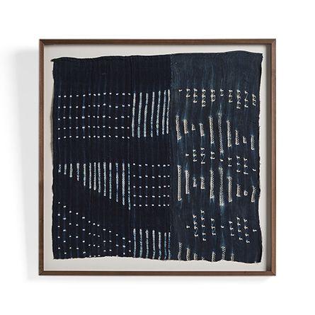 """Indigo Mudcloth 40"""" x 40"""" Framed Print"""
