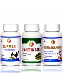 Combo Pack ( Gurmar, Diabetic care, Ashwagandha )