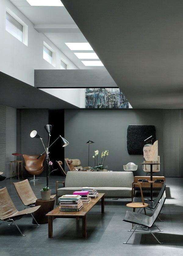 #Design - #onlineartgallery - #contemporaryart - online art gallery - contemporary art Source : http://plastolux.com/dark-modern-interiors.html#.U3kPpUsayK1