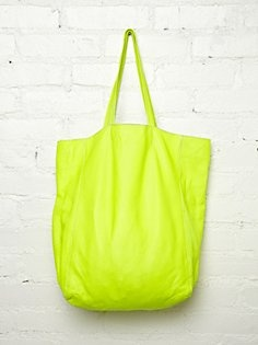 Neon Brio Tote: Neon Tote, Bags Tote, Summer, Free People, Neon Brio, Brio Tote, People Neon, All