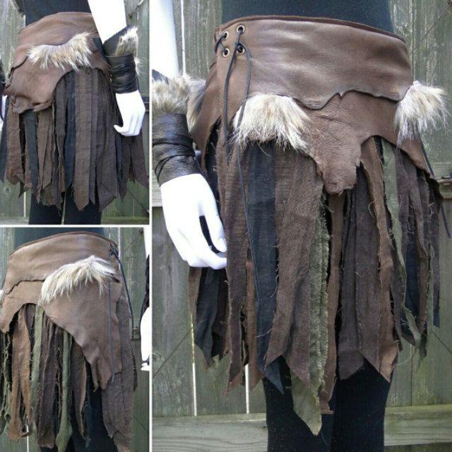 Linen Wrap Skirt, Tribal Fantasy Renaissance Style – Women's Adjustable Fit, Choose Your Size