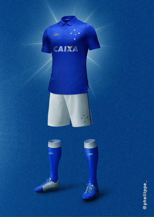 Camisas Umbro do Cruzeiro Phellippe Samarone kit