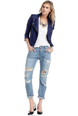 Женские потертые джинсы. Как сделать джинсы потертыми.