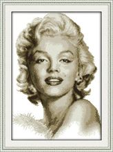 Wholesale Needlework,Stitch,14CT Cross Stitch,Sets For Embroidery Kits,The sketch of Marilyn Monroe Counted Cross-Stitching(China (Mainland))
