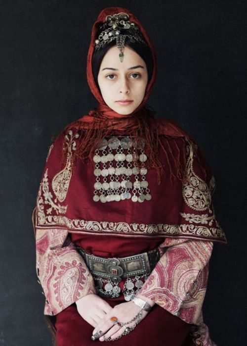 Central Asia | Portrait of a woman wearing traditional clothes, Armenian Highland, Armenia | © Ilya Vartanian