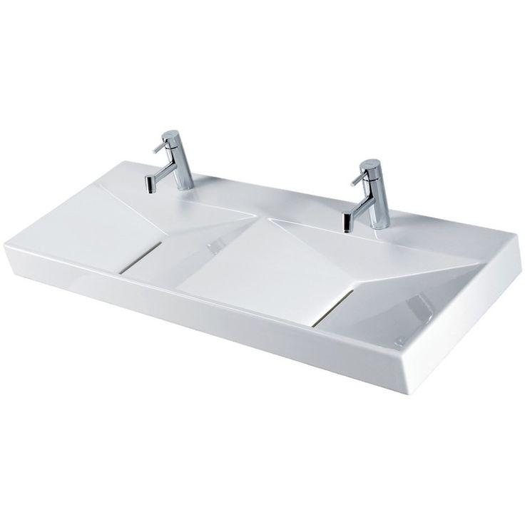 Best 25 lavabo double vasque ideas on pinterest double vier de salle de b - Vasque double a poser ...