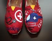 Hand Painted Flight Nurse Toms...