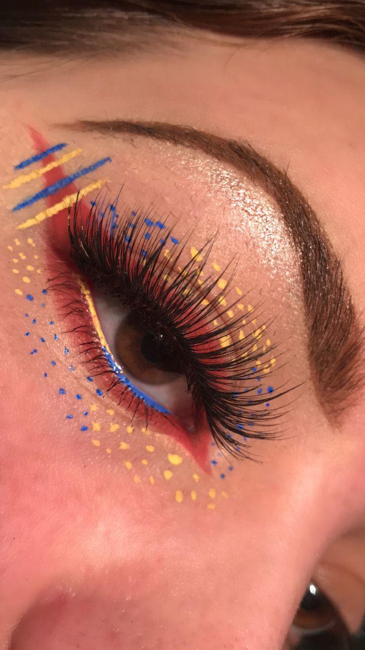 Ongebruikt Primary Colors eyeshadow aesthetic look. (っ◔◡◔)っ ♥ Follow on WD-43