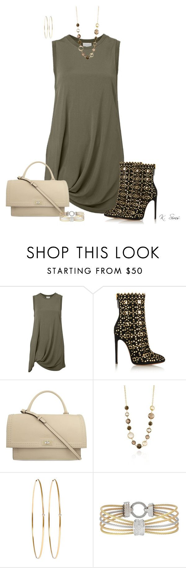 """""""It's a top, but...."""" by ksims-1 ❤ liked on Polyvore featuring Witchery, Alaïa, Givenchy, PIARA by Elaine J, Jennifer Meyer Jewelry and Alor"""