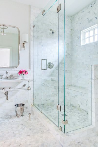 Lucite Washstand - Transitional - bathroom - EJ Interiors