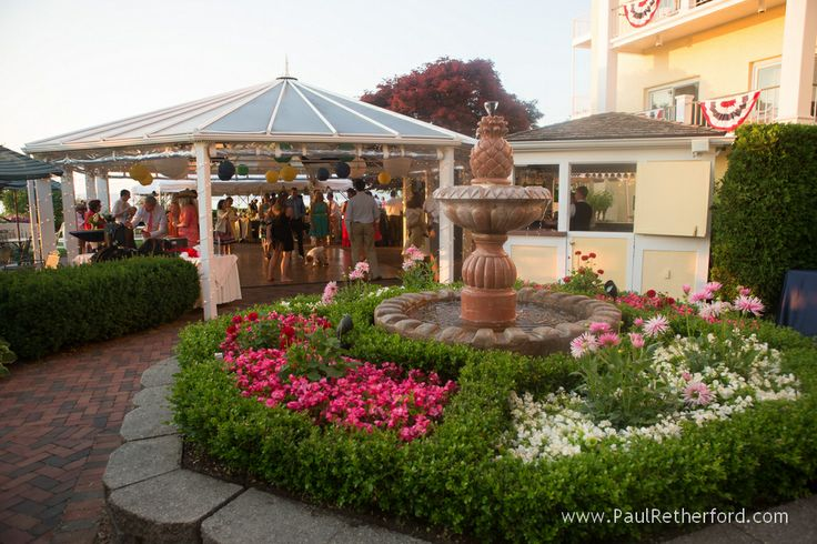 Rose Garden Wedding At Perry Hotel Evening Dusk Image Summer Weddings In Petoskey Northern Michigan PerryHotel NorthernMichigan