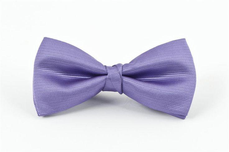 Lilac Self Stripe Bow Tie