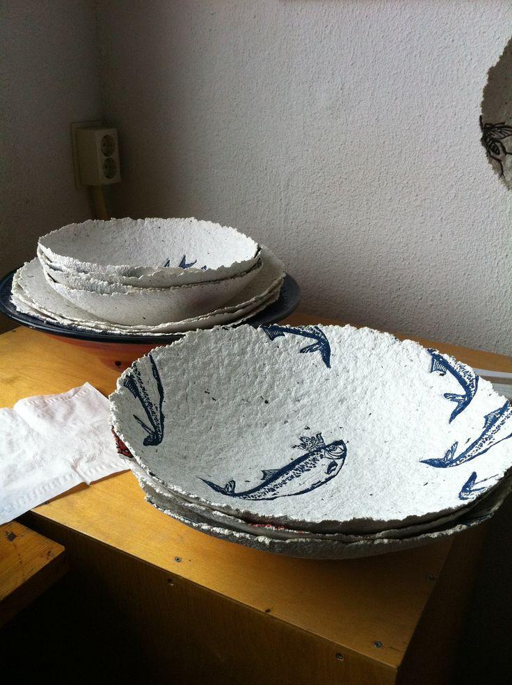 Plates made of paper.. look at paperoriginals.nl