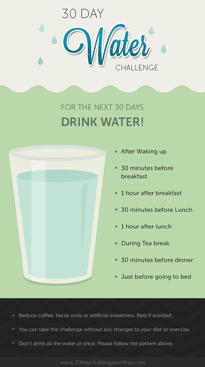30 Day Water Challenge #health #water