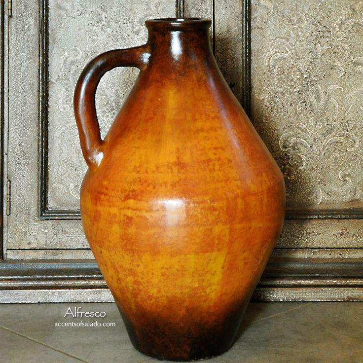 Tuscan Orange Floor Vase Accentsofsalado Com Tuscan Decor Statues Vases Bowls And Unique