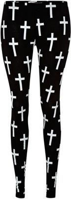 Reverse Cross print leggings