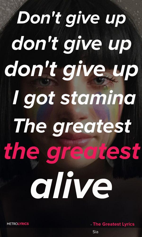 The Greatest - Sia featuring Kendrick Lamar