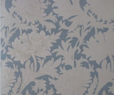 Shop - Chrysanthemum Toile: Blue | Annandale Wallpapers