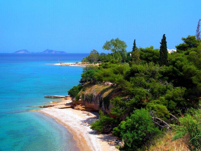 Ligoneri beach in Spetses island