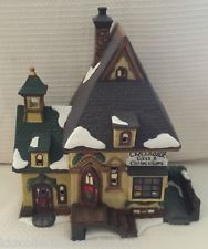 Christmas Village House Hand Painted Porcelain Lighted- Gifts & Collectible Shop