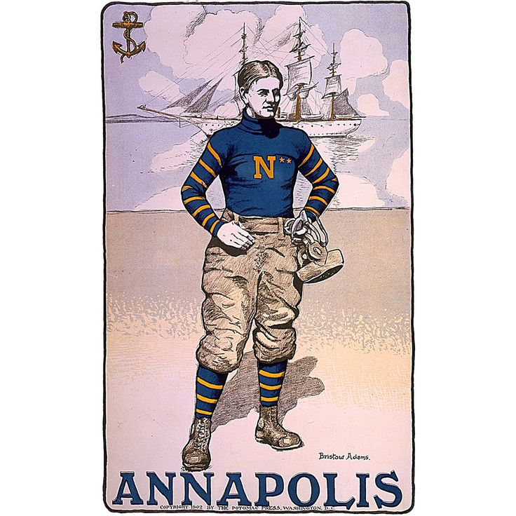 Annapolis Naval Academy Football Player 1902