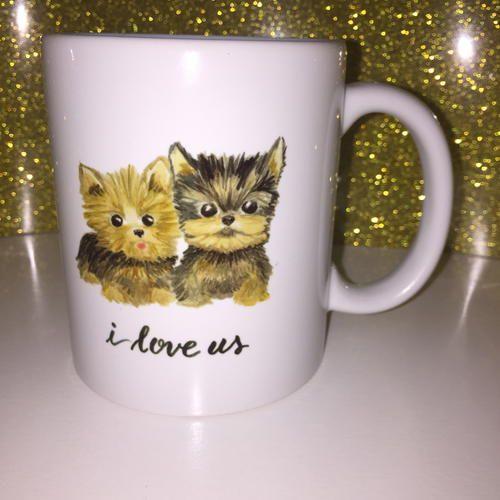Yorkie Dog Coffee Mug   haylily com  FlourishYourLife  HaylilyDesigns  iloveus  Yorkiesof  yorkie  mug  dogsofpinterest