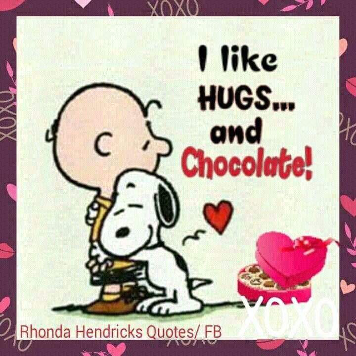 SNOOPY~I LIKE HUGS AND CHOCOLATES!