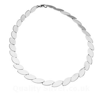 Tianguis Jackson Silver Marquise Chain Necklace
