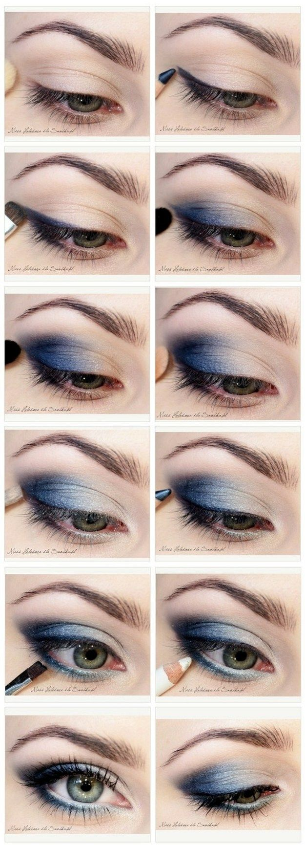 How to Do Blue Smokey Eyes | DIY Makeup by Makeup Tutorials http://www.makeuptutorials.com/makeup-tutorials-graduation-beauty-ideas