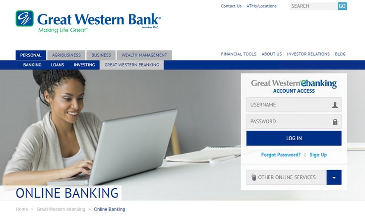 Great Western #Bank has developed a secure online portal for its customers using which they can log into their account, make payments and more. The bank specializes in offering a wide range of personal and #business banking solutions.