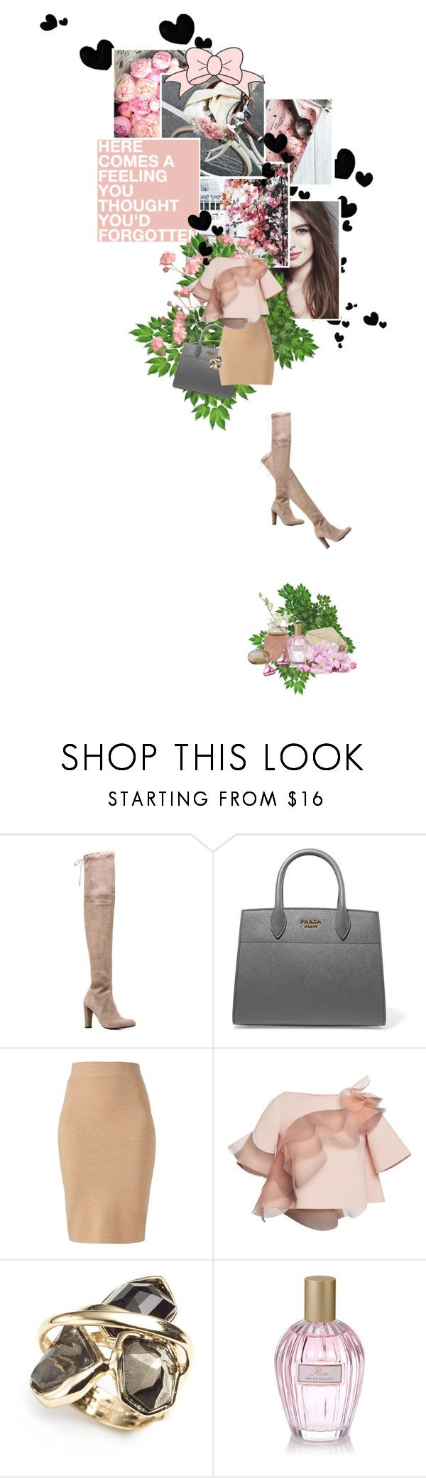 """""""#6 -Thigh high boots"""" by hoppsan ❤ liked on Polyvore featuring Prada, Stuart Weitzman, Winser London, Marc Jacobs, Alexis Bittar and Marks & Spencer"""