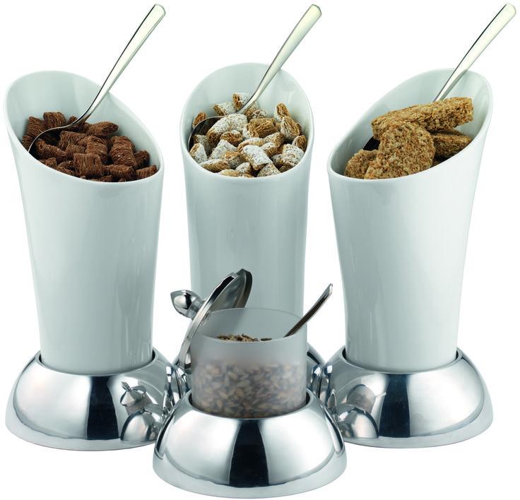 porcelain goblets for bite size cereal breakfast