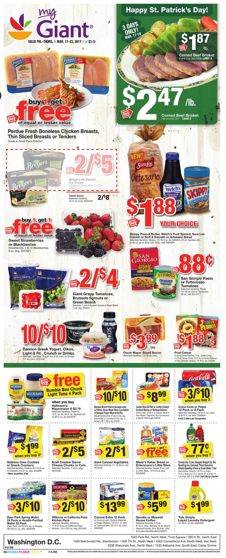 Giant Food Weekly Ad March 17 - 23, 2017 - http://www.olcatalog.com/grocery/giant-food-weekly-ad.html