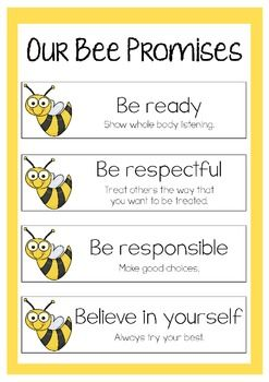 Our Bee Promises - Freebie