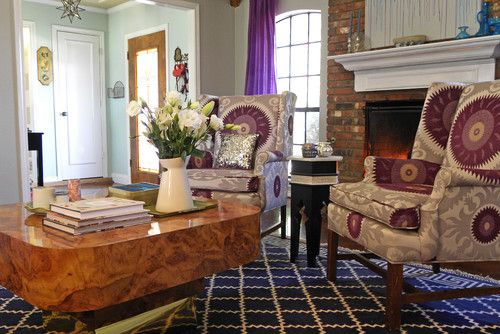 Chairs & COFFEE TABLE. Eclectic living room by Sarah Greenman