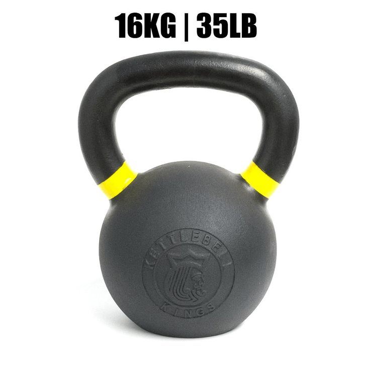 Kettlebell Kings | Powder Coat Kettlebell | Best Kettlebell for Crossfit, Strength Training & Hiit Workouts (16 KG). COLORED BANDS - on handles indicate weight for easy identification according to international standards. Kettlebells that are not easily identifiable are cumbersome to work with and hard to identify. HANDLES - These handles on the powder coat kettlebells are designed for high intensity workouts. The powder coating makes it easier to maintain a strong grip on the kettlebell...
