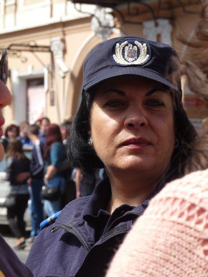 Brasov Policière à la parade des Junii