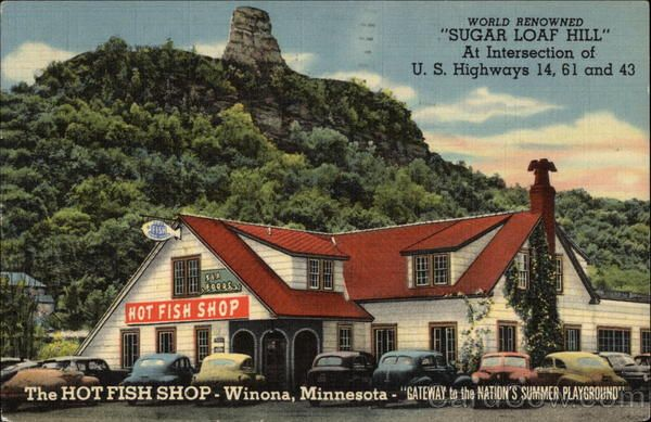 The Hot Fish Shop Winona Minnesota. Was the best place for walleye. People would come for miles. Now there is a Dairy Queen in it's place?
