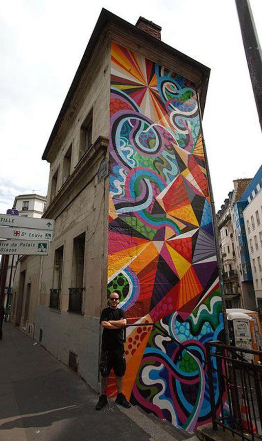 Artist :Matt W Moore #streetart #art #graffiti