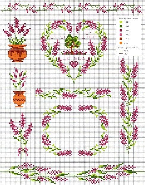 Lavander cross stitch patterns