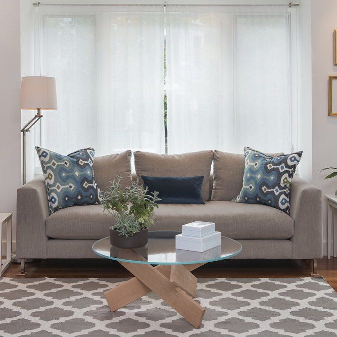 We Love How The Designers At @pinneydesigns Incorporated Our Gray And White Frontier  Rug In