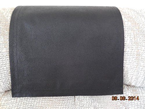 chair covers recliner pads headrest pads furniture protectors std black leather look 12x30 furniture covers recliner