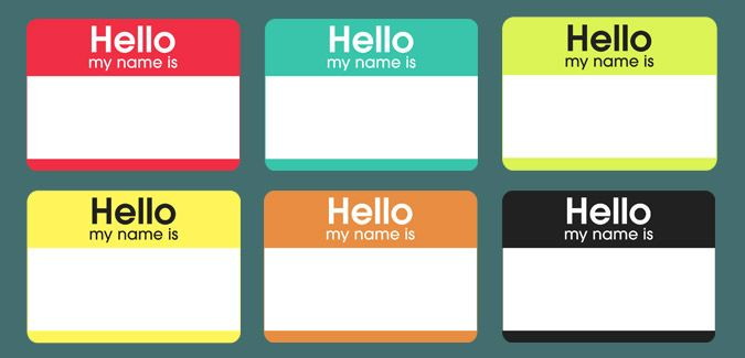 Free Printable  #Hello my name is #color #nametags