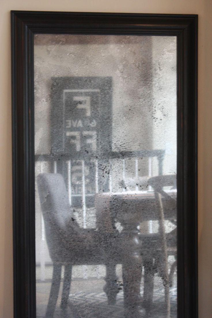 Turn plain glass into antique mirror my sweet savannah for Making mirrors