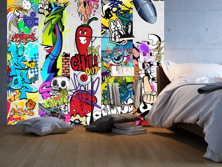 Tapeta Fliz rolka 0,5x10m graffiti f-A-0257-j-a - artgeist - Tapety