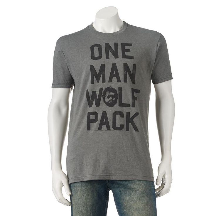 "Men's The Hangover Alan ""One Man Wolf Pack"" Tee, Size:"